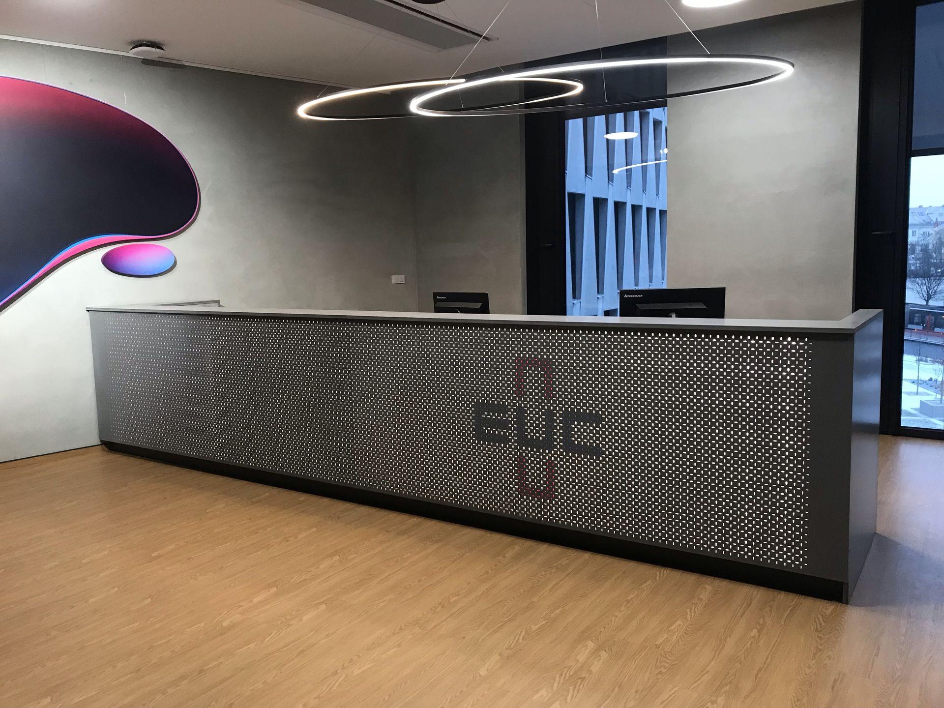Recepční pult, EUC, Praha