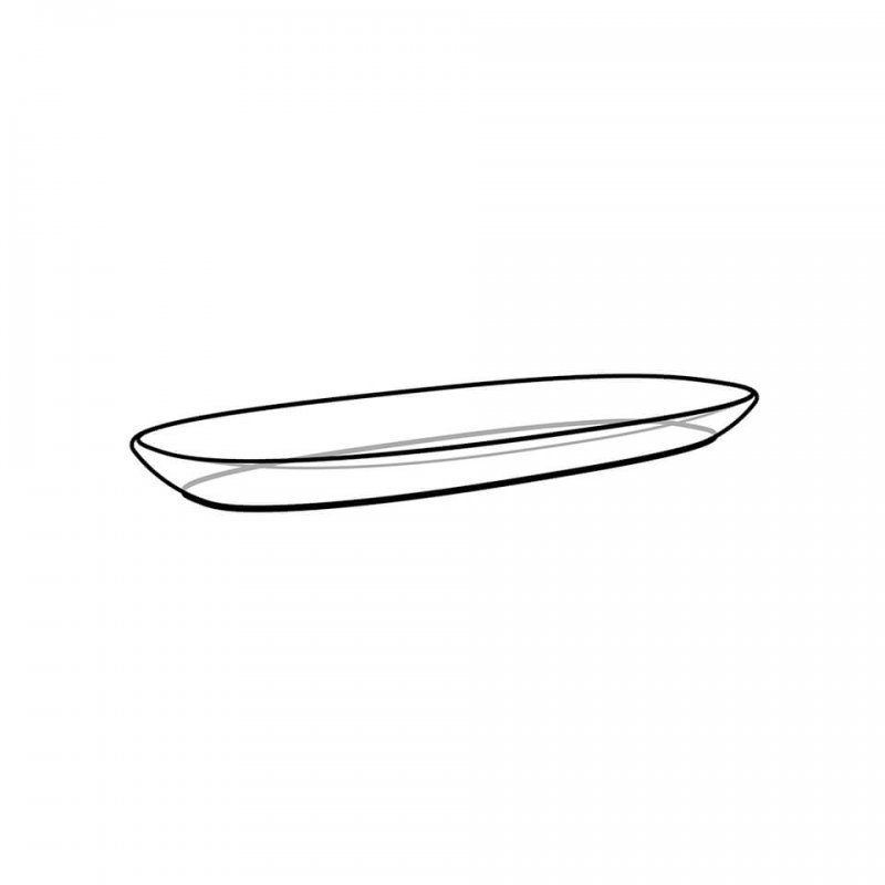 Oblong plate